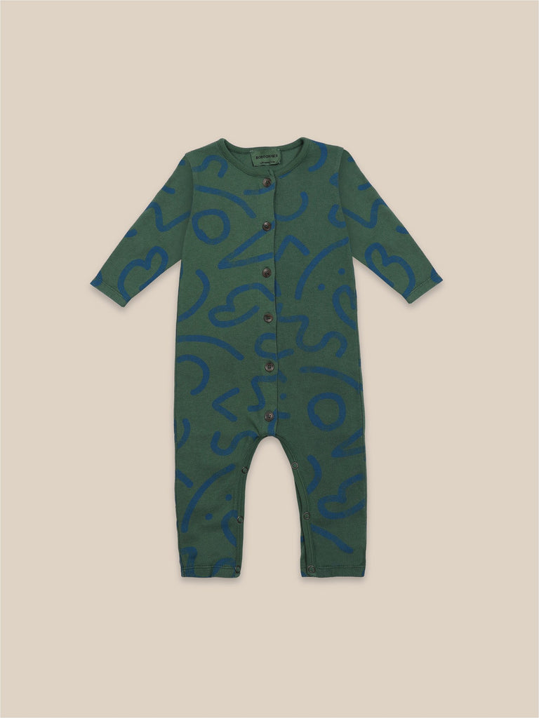 Little bobo choses baby Curved Lines All Over Overall