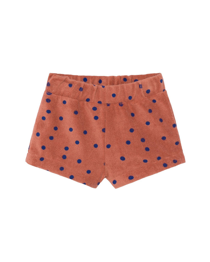 Little bobo choses baby boy dots terry towel baby shorts