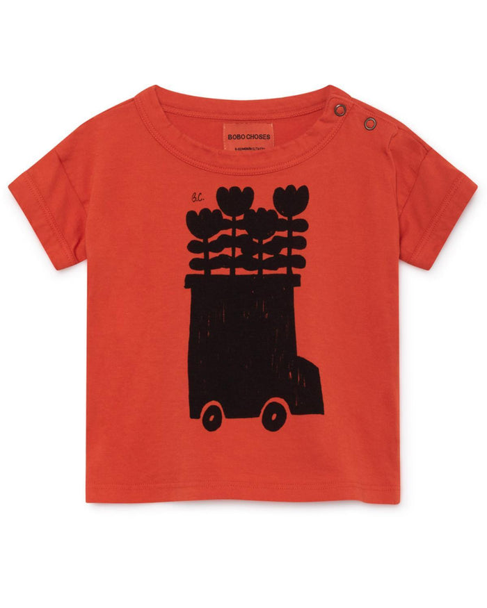 Little bobo choses baby boy 3-6 flower bus baby t-shirt