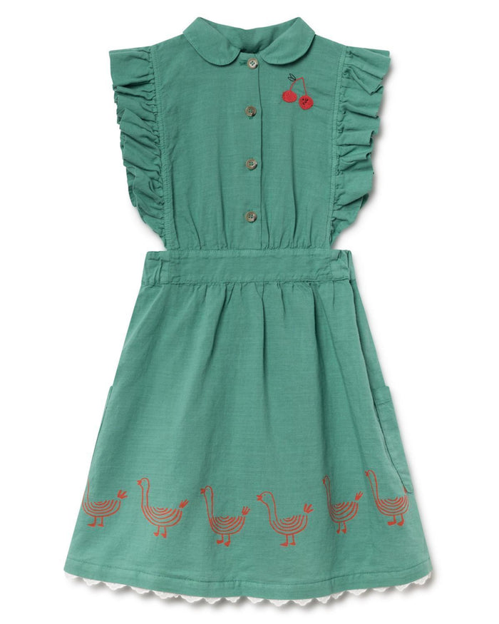 Little bobo choses girl 2-3 geese ruffles dress
