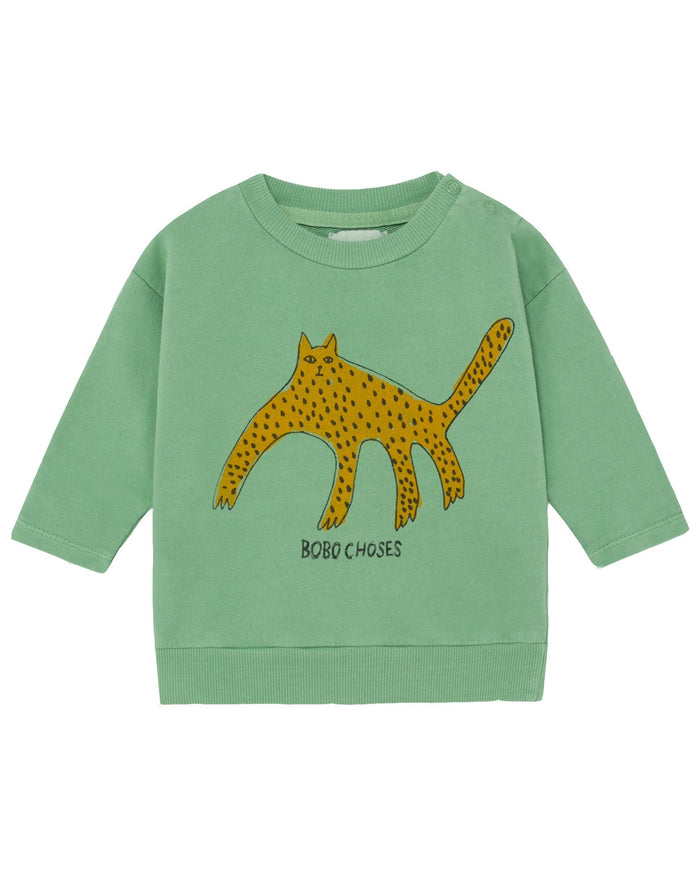 Little bobo choses baby boy leopard baby sweatshirt