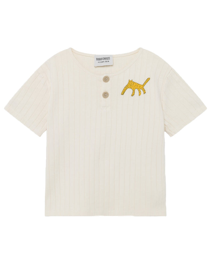 Little bobo choses boy leopard buttoned t-shirt