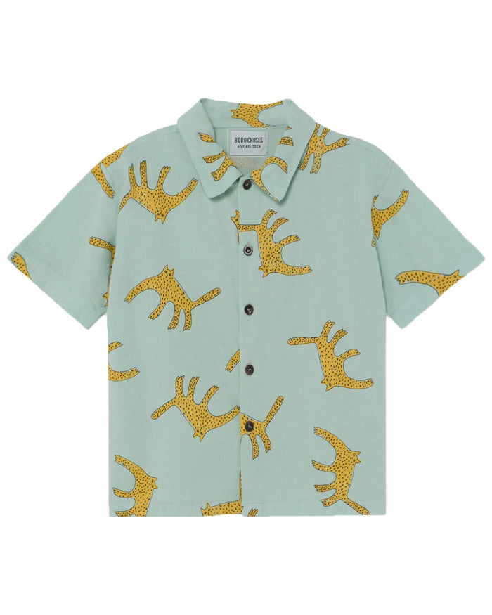 Little bobo choses boy leopards shirt