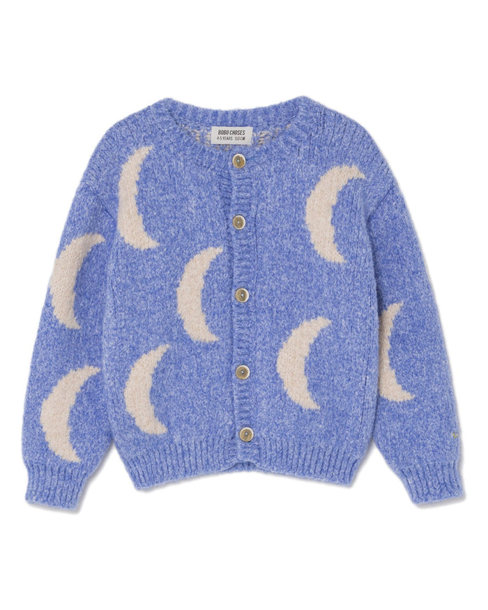 Little bobo choses boy moon jacquard cardigan