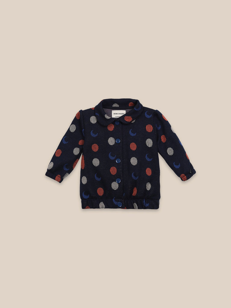 Little bobo choses baby Night Knitted Jacquard Cardigan