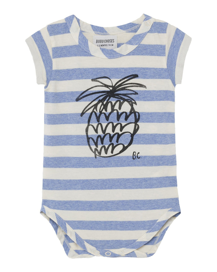 Little bobo choses baby boy pineapple short sleeve bodysuit
