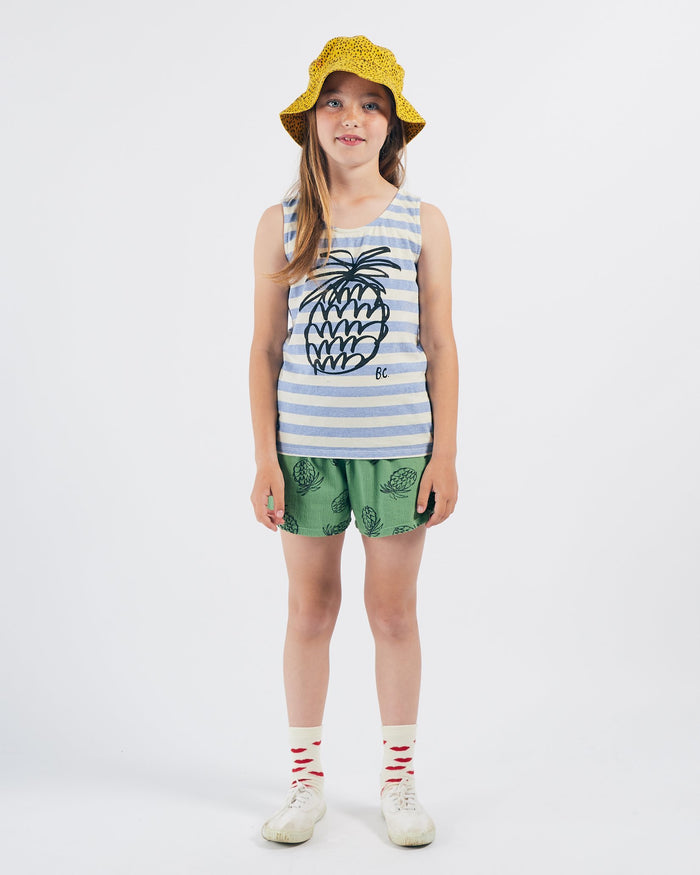 Little bobo choses girl pineapple striped tank top