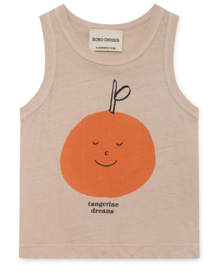 Little bobo choses baby boy 3-6 tangerine dream baby linen tank
