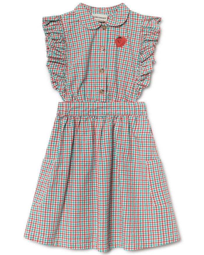 Little bobo choses girl 2-3 vichy ruffle dress