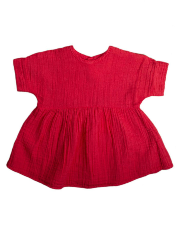 Little boy + girl baby girl 0-6 baby una dress in apple