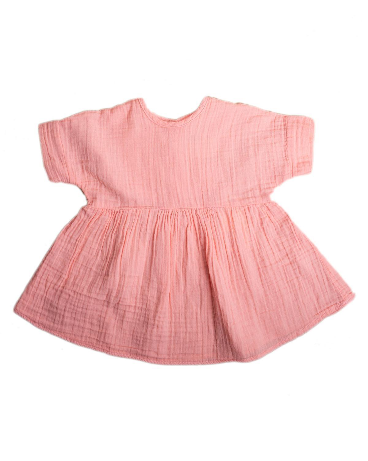 Little boy + girl baby girl 0-6 baby una dress in guava