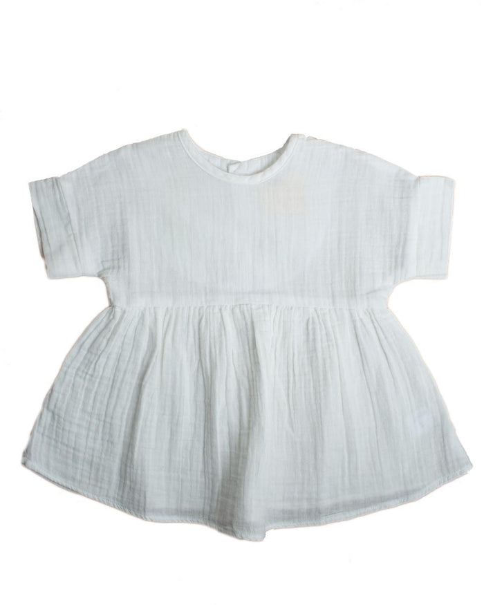 Little boy + girl baby girl 0-6 baby una dress in white