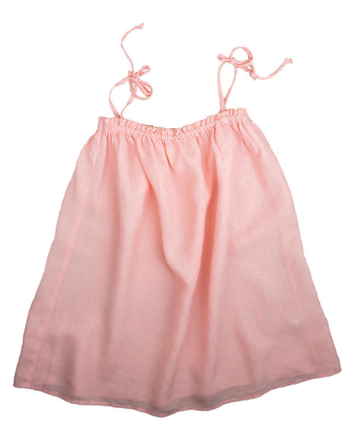 Little boy + girl girl 2 lagoon dress in guava