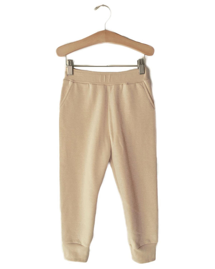 Little boy + girl boy 2 lounge pant in heather yellow
