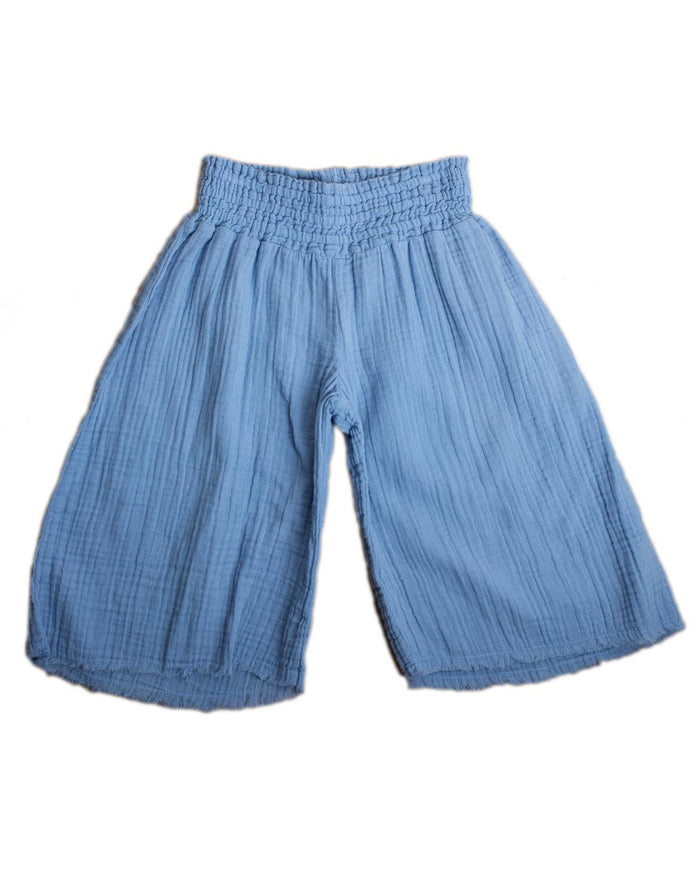 Little boy + girl girl 2 siena culotte in cornflower