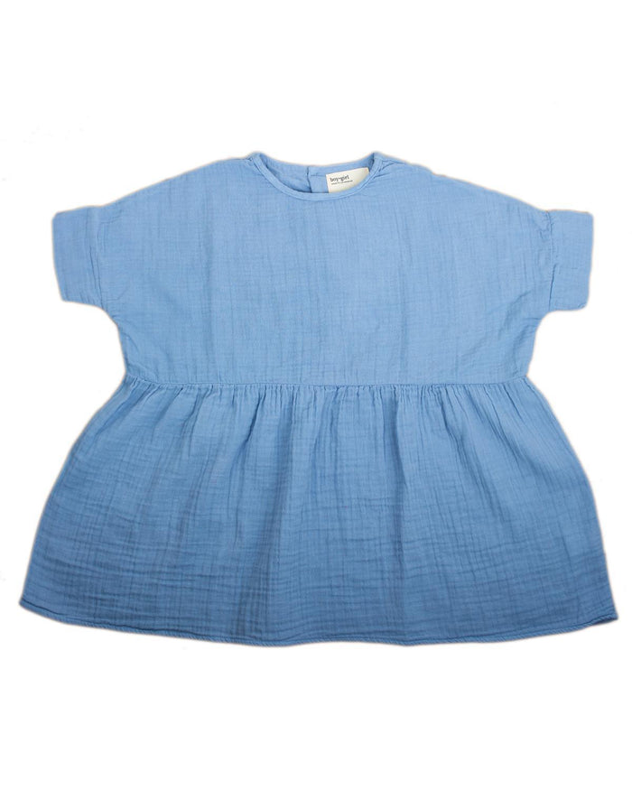 Little boy + girl girl 2 una dress in cornflower