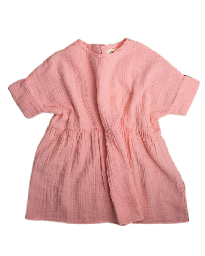 Little boy + girl girl 2 una dress in guava