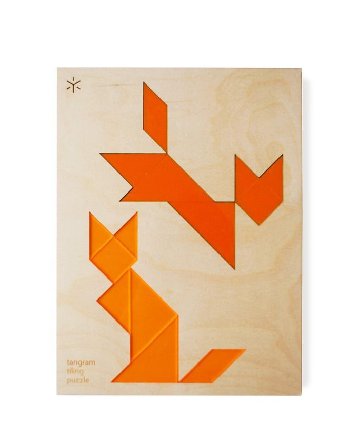 Little bright beam goods play Fox + Fox Tangram Tiling Puzzles