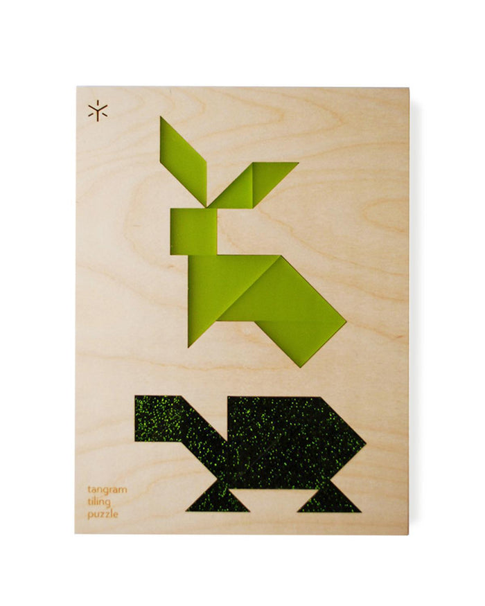 Little bright beam goods play Hare + Tortoise Tangram Tiling Puzzles