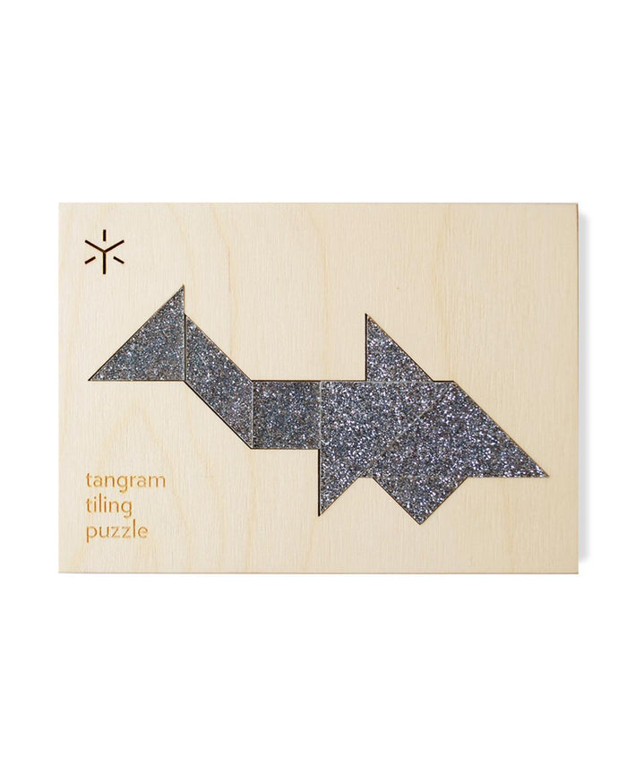 Little bright beam goods play Shark Tangram Puzzle