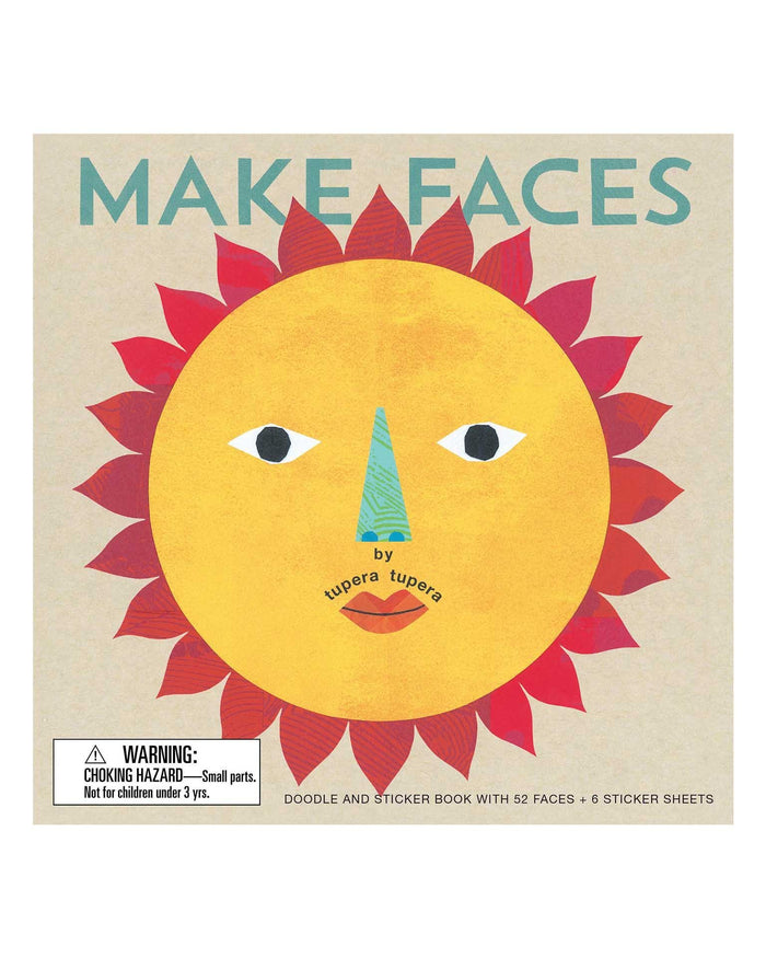 Little chronicle books play make faces: doodle + sticker book