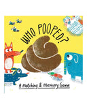 Little chronicle books play who pooped? a matching + memory game