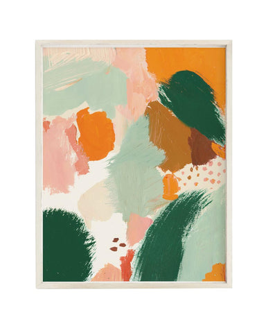 Little clementine kids room abstract meadow art print