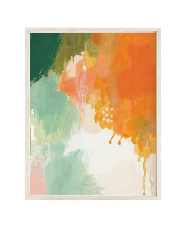Little clementine kids room abstract sunset art print