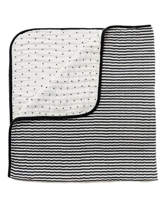 Little clementine kids room Black + White Reversible Quilt