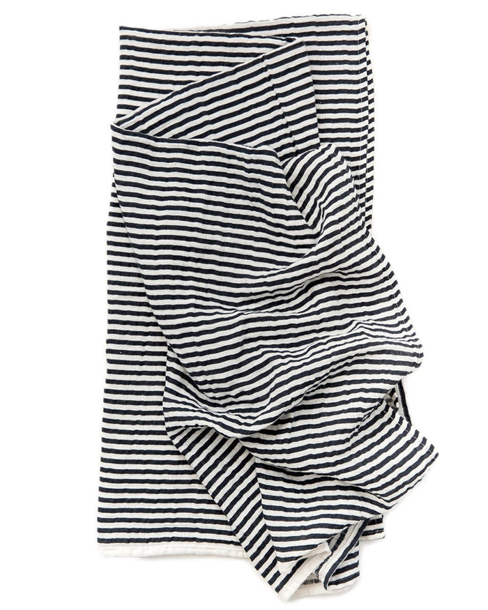 Little clementine kids baby accessories Black + White Stripe Swaddle