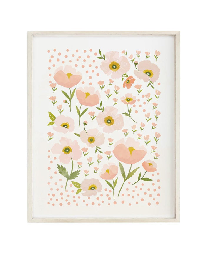 Little clementine kids room blush bloom art print