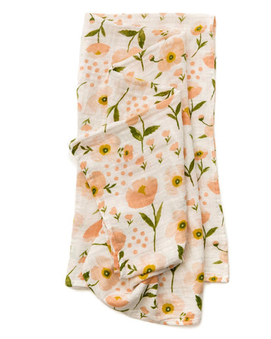 Little clementine kids baby accessories Blush Bloom Swaddle