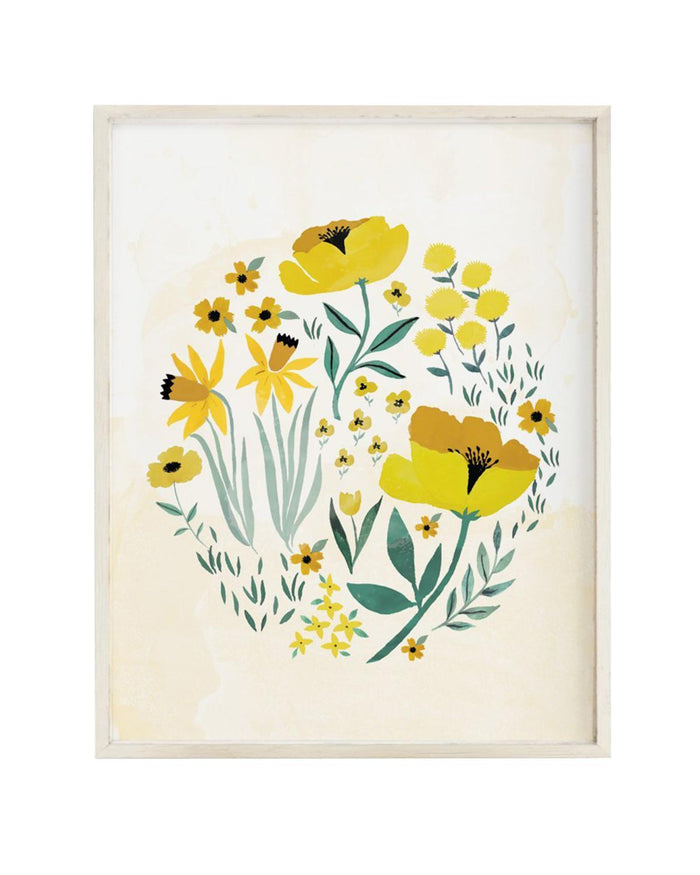 Little clementine kids room buttercup blossom art print