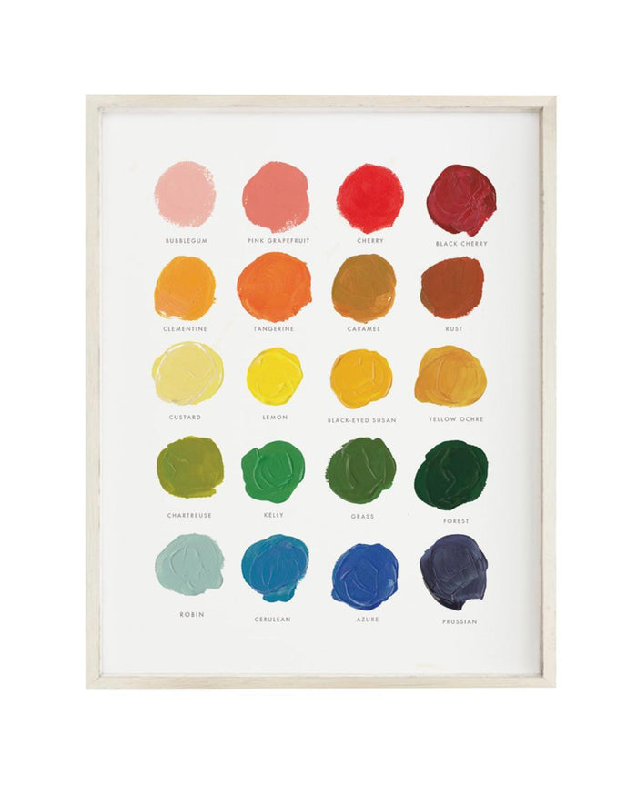 Little clementine kids room color palette art print