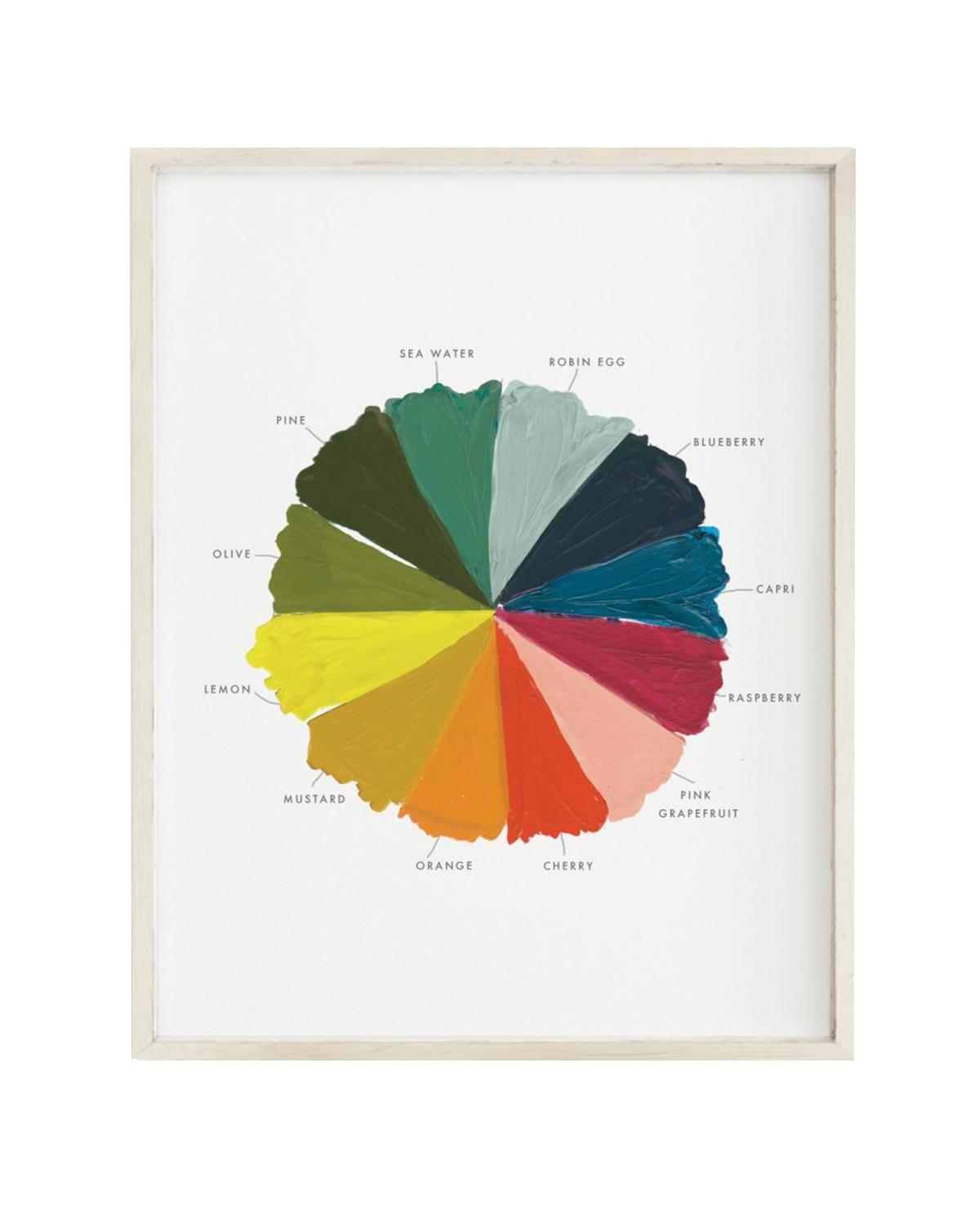 Little clementine kids room color wheel art print