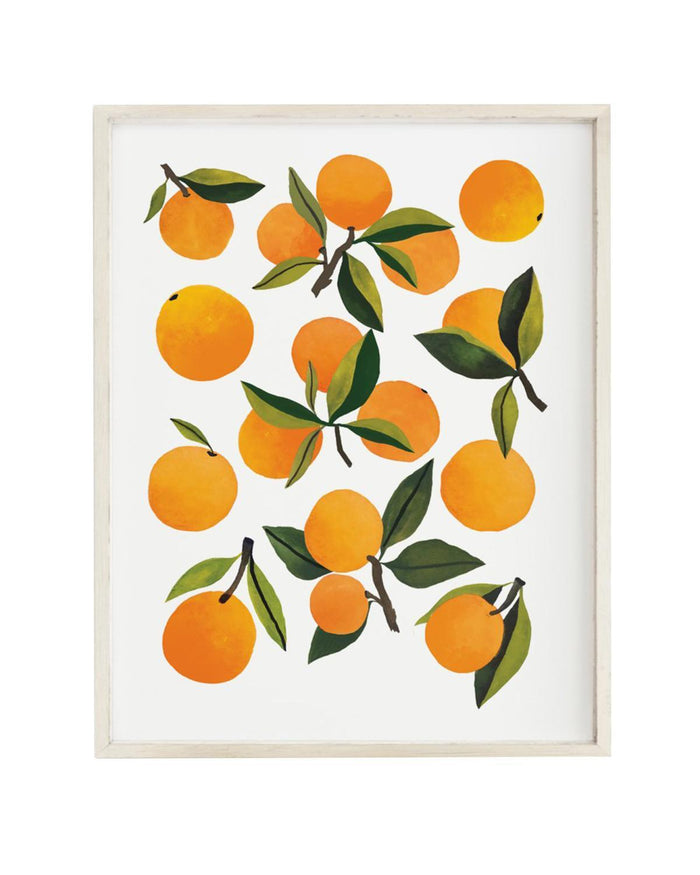 Little clementine kids room fresh clementines art print