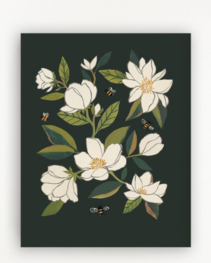 Little clementine kids room magnolia + bumblebees art print