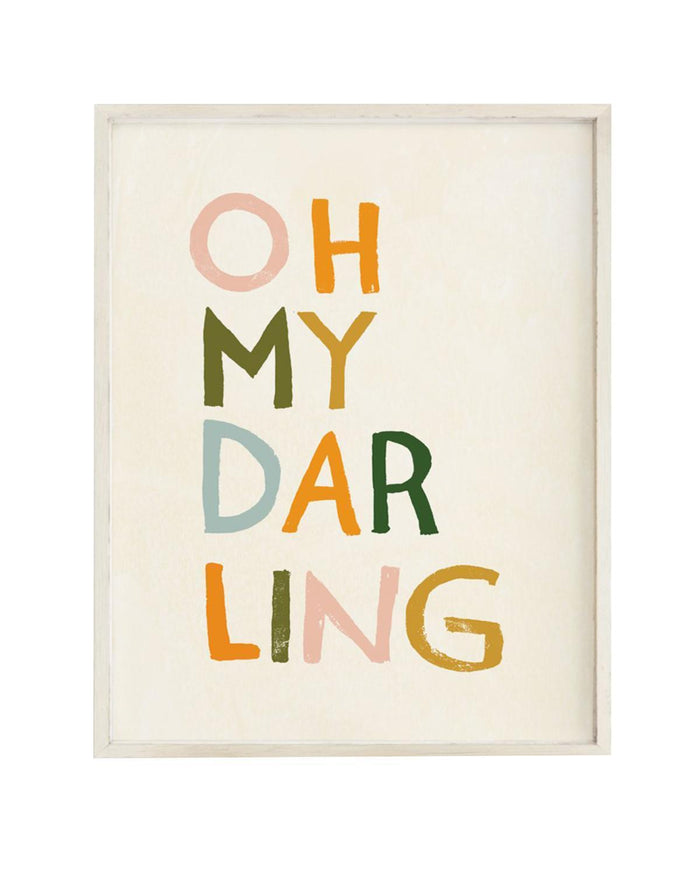 Little clementine kids room oh my darling art print