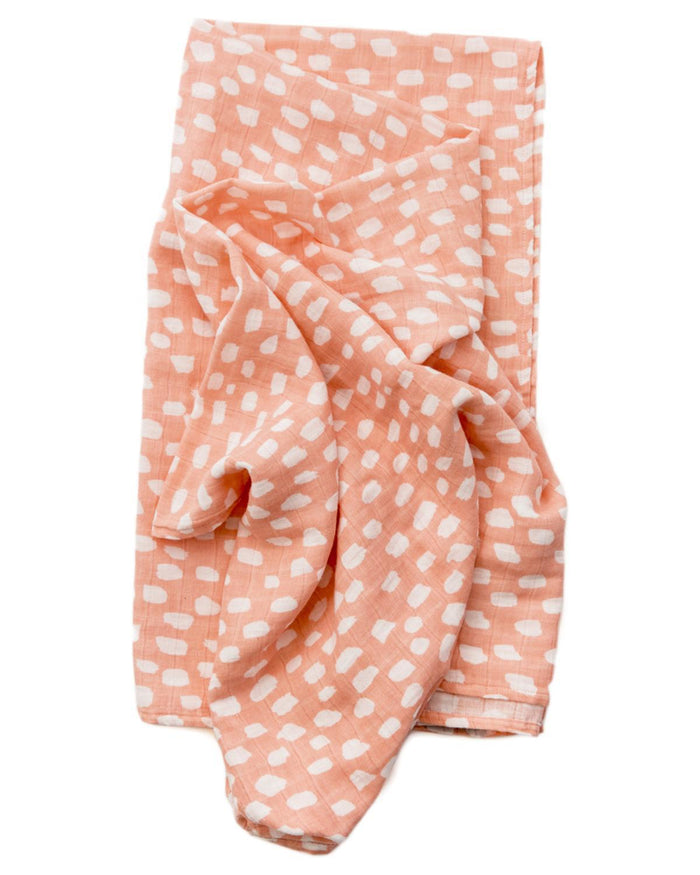 Little clementine kids baby accessories Spotted Blush Swaddle