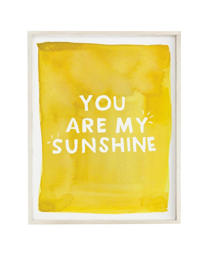 Little clementine kids room you are my sunshine art print