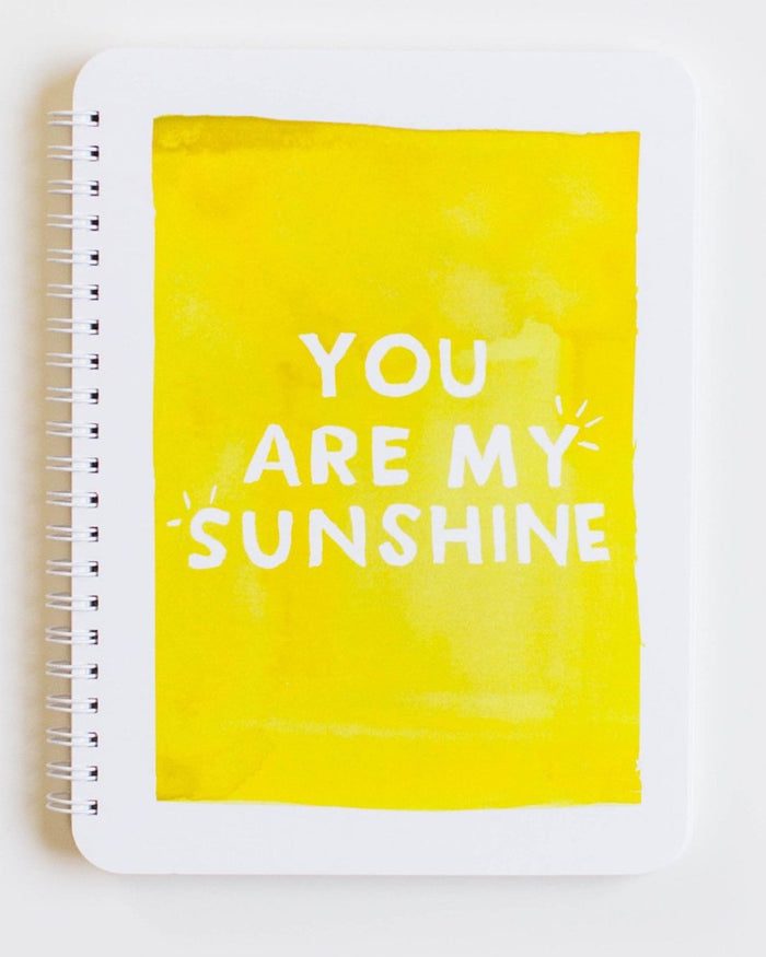 Little clementine kids paper+party you are my sunshine notebook