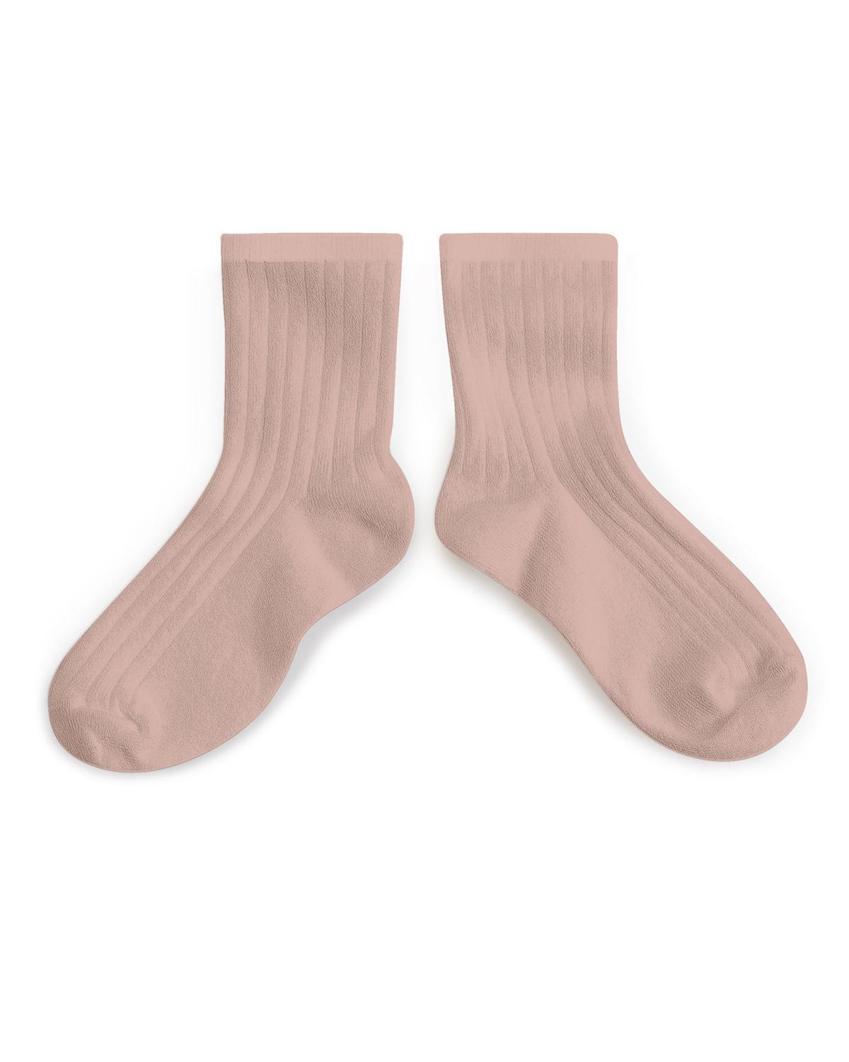 Little collegien accessories 18/20 ankle socks in vieux rose