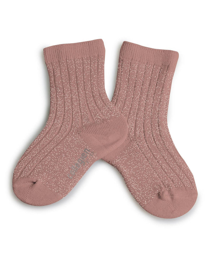 Little collegien accessories 18/20 glittery socks in boise de rose