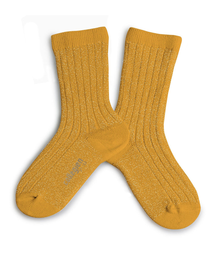 Little collegien accessories glittery socks in bouton d'or