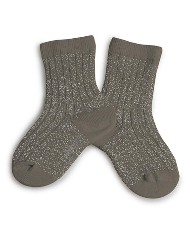 Little collegien accessories 18/20 glittery socks in brun de terre