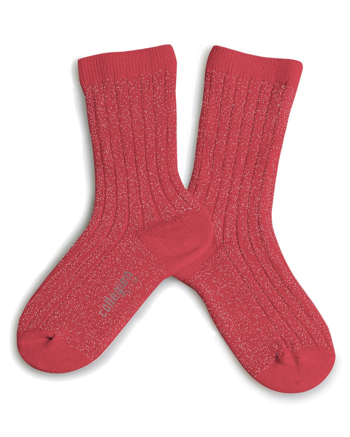 Little collegien accessories glittery socks in corail de mediterran