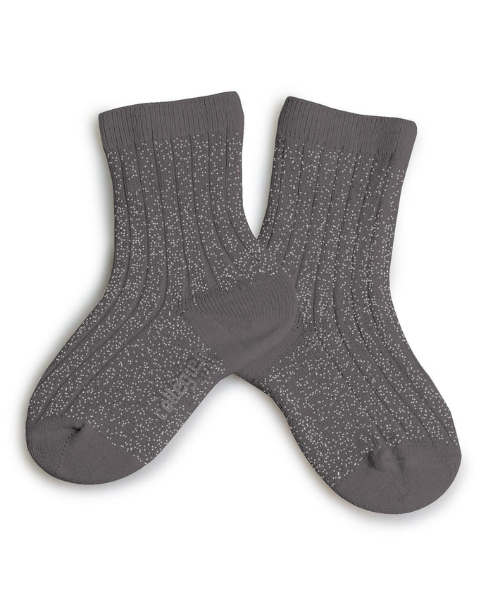 Little collegien accessories 18/20 glittery socks in gris orage