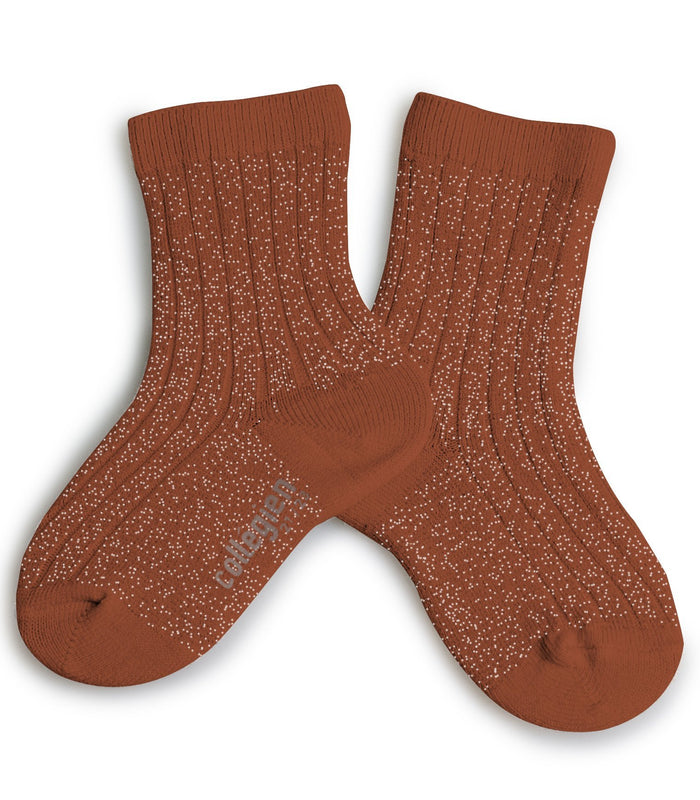 Little collegien accessories glittery socks in pain d'epice