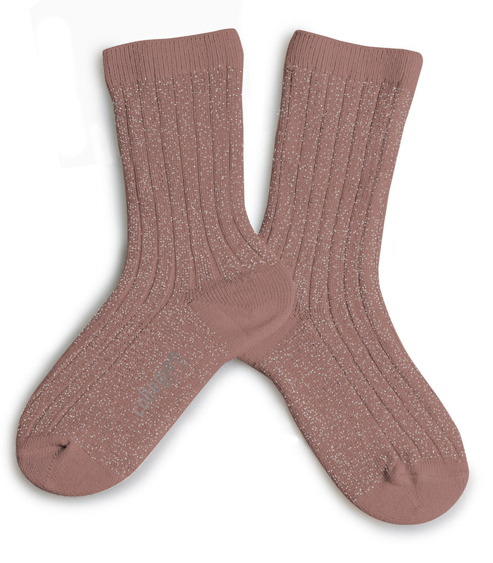 Little collegien accessories glittery socks in praline de lyon
