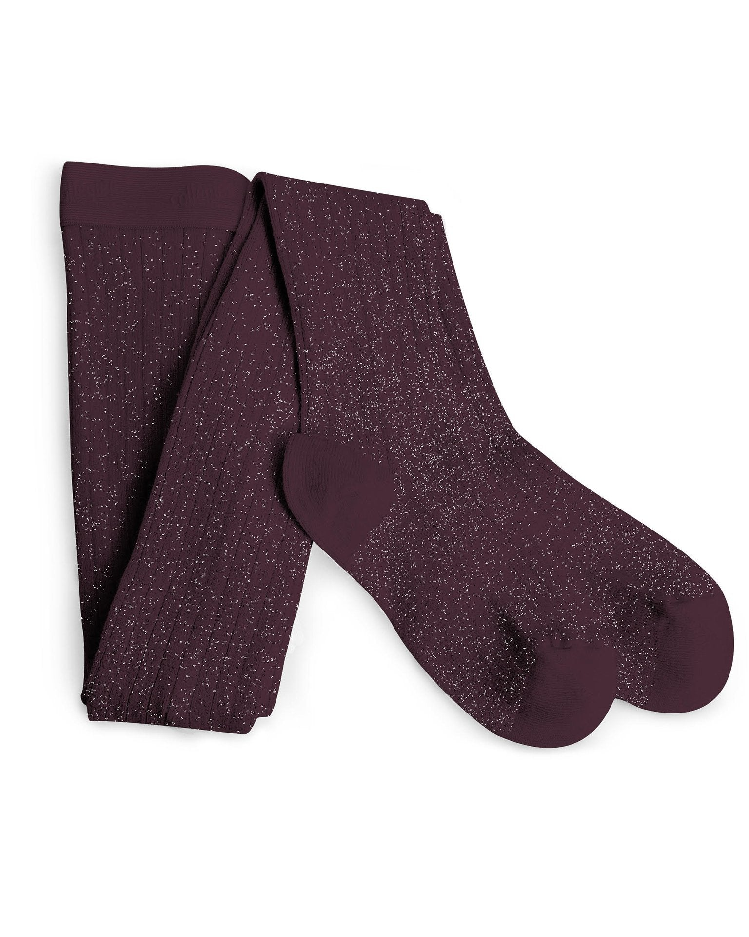 Little collegien accessories glittery tights in aubergine